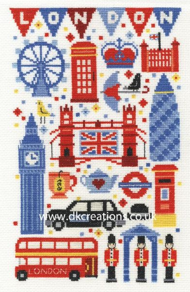 London Attractions Cross Stitch Kit